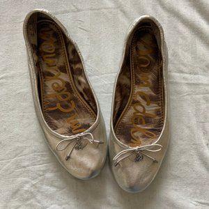 Sam Edelman silver leather ballet flats size 7.5